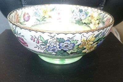 Maling Springtime Large Bowl, Decorative, Vintage, Unusual, Pretty Piece (DCB)