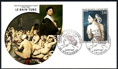(Ref-11828) France 1967 French Art  The Bather (Ingres) First Day Cover SG.1744