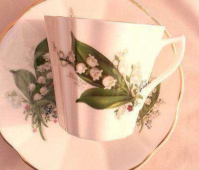 Royal Albert Lily of the Valley Teacup & Saucer Fluted Tea Cup and Saucer