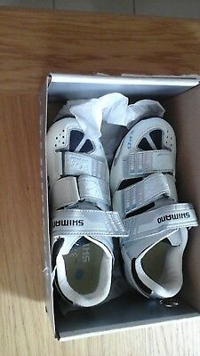 Shimano womens cycling spinning shoes size 4 white