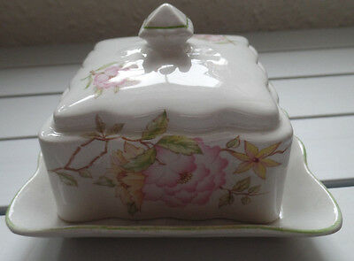 Vintage James Kent Pottery Butter Dish with lid
