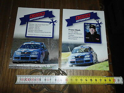 Koob Motorsport Fiat Abarth Punto Super 1600 Rally Card