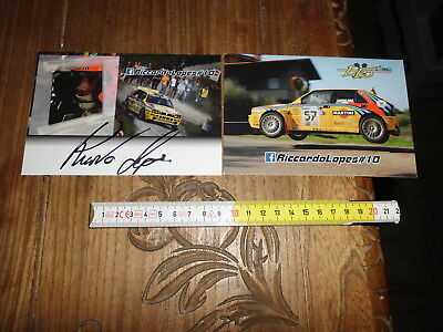 Riccardo Lopes Lancia Delta Rally Card Rallylegend Signed