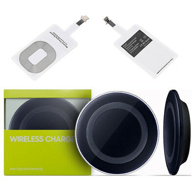 Iphone 5 6 6S 7 Plus Wireless Qi Charging Pad Fast Charger Receiver Adapter Kit