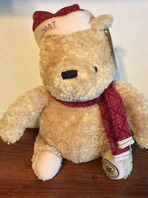 Limited Edition Classic Pooh 2007 Christmas Holiday Bear Plush With Tags