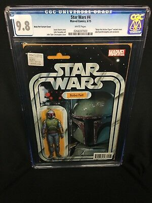 Star Wars #4 Boba Fett Toy Card Variant__CGC 9.8 SS__
