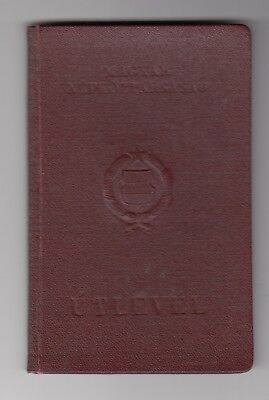 Hungarian People's Republic Red Hard Cover Passport 1961 Expired Obsolete