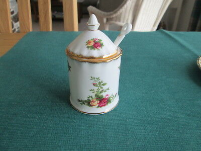 Royal Albert Old Country Roses Tall Preserve Jar With Spoon