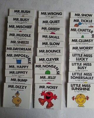 26 X Mr Men And 4 Little Miss  Books By Roger Hargreaves
