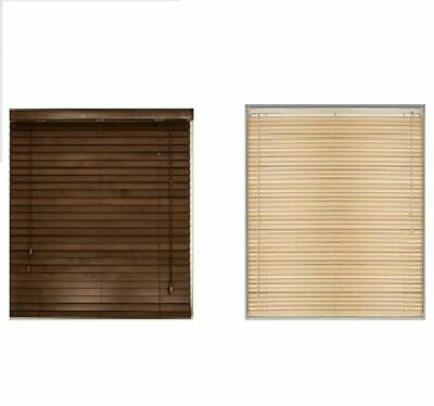 Multiple Size Wood Grain Venetian Blind Drop 150cm Window Blinds Easy Fit New