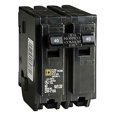 Square D by Schneider Electric HOM240CP Homeline 40 Amp Two-Pole Circuit Breaker