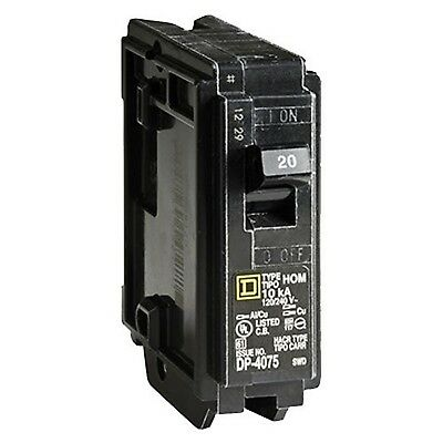 Square D by Schneider Electric HOM120CP Homeline 20 Amp Single-Pole Circuit B...