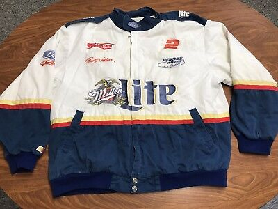 Mens Vintage Chase Racing Rusty Wallace Nascar Zip Up Team Jacket Size Large