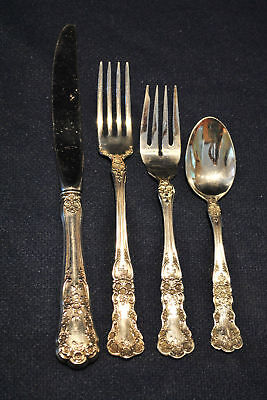 Gorham Buttercup Sterling Flatware Set For 8   Free Shipping