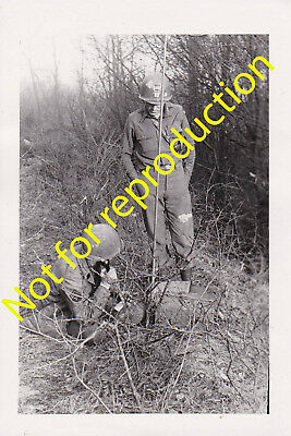 WWII Original Army Signal Photo Captain of 99th Infantry Division Painted Helmet