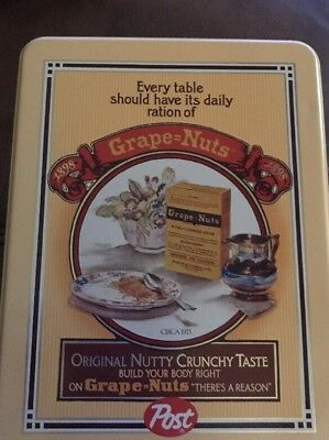 Vintage GrapeNuts METAL TIN cereal VINTAGE old advertising! Great condition