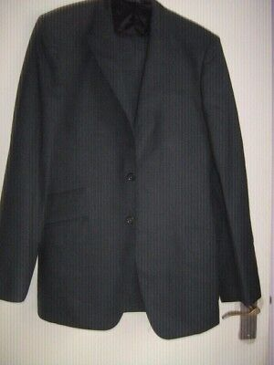 """Paul Smith Mans Grey Suit With Red Lining Jacket 42"""" Trousers Waist 35"""" IL 35"""""""