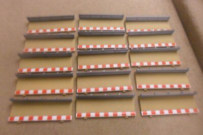 SCALEXTRIC 15 x HALF STRAIGHT BORDERS - EXCELLENT UNBOXED CONDITION