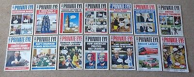 Job Lot of 14 Issues of Private Eye Magazine 2016, Good Condition