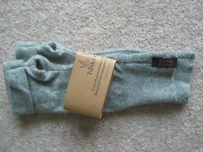 Bnwt Turtle Doves Cashmere Wrist Warmers / Fingerless Gloves