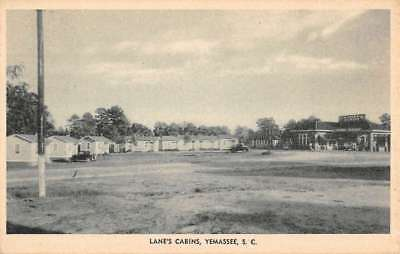 Yemassee South Carolina Lanes Cabins Street View Antique Postcard K76663