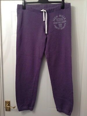 Jack Wills ladies joggers size 12, purple,