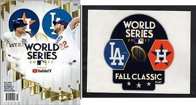 2017 World Series Game Program Los Angeles Dodgers Houston Astros Dueling Champs