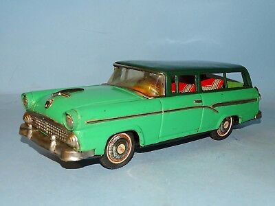 1956 Ford Station Wagon Tin Friction Toy Bandai Japan