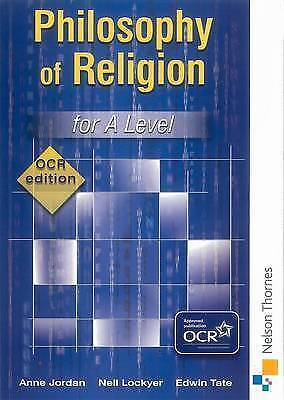 Philosophy of Religion for A Level - OCR Edition by Anne Jordan, Edwin Tate,...