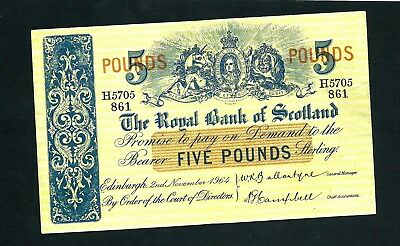 Royal Bank of Scotland (P326a) 5 Pounds 1964