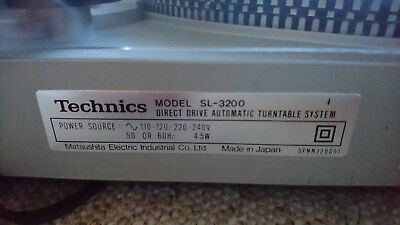 Technics turntable sl 3200