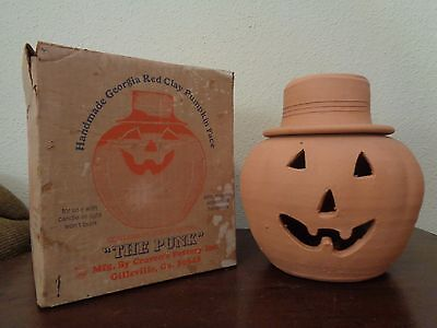Craven Pottery THE PUNK Georgia Red Clay Pumpkin Jack O Lantern Halloween WB