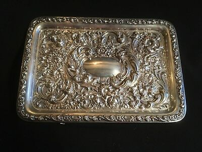 Antique Silver Dressing Table Tray By Robert Pringle London 1909