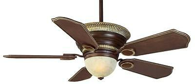 "CASABLANCA 56"" Remote Ceiling Fan Middlebury with Carved Wood Blades C6K36M"