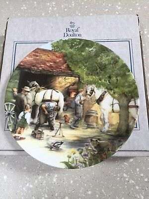 Royal Doulton Ltd Edition Collectors Plate: Old Country Crafts: The Blacksmith