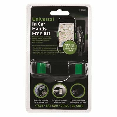 Universal In Car Hands Free Kit holder with stereo aux