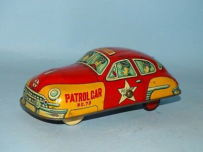 Police Patrol Car Tin Friction Toy Japan