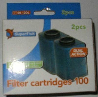 Superfish Aqua Flow 100 Filter Cartridges 2 pieces replacement cartridges