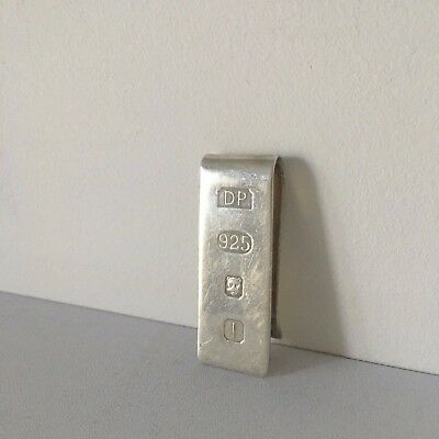 Sterling Silver Feature Hallmark Money Clip used