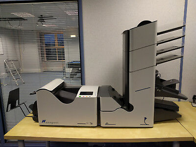Neopost SI 76 6 Station Mail Folding Inserter Envelope Machine + 4 A4 Feeders