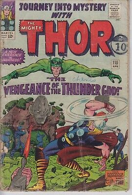 Thor Journey into Mystery 115 - 1965 - Kirby - Good +