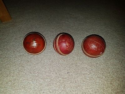 Lot of 3 cricket balls, 1 new, 2 used
