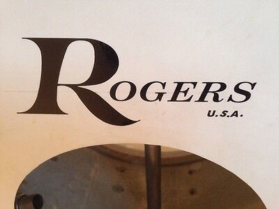 Drum Spares Rogers USA Bass Drum Decal Logo Sticker In Black