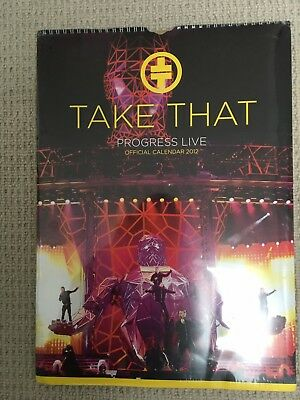 Take That, Progress Live 2012 Official Calendar. Brand new in sealed packaging.