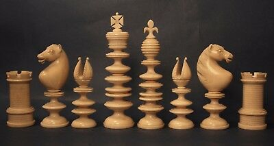 Exceptional antique English chess set