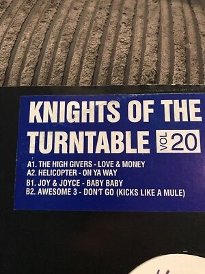 Knights Of The Turntable 20 High Givers/Helicopter/Joy & Joyce / Awesome 3