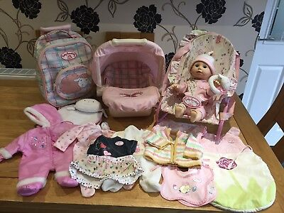 Baby Annabell Learn To Walk Doll And Accessories Bundle