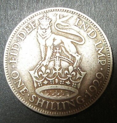 GEORGE Vth 1929 shilling. condition as photo