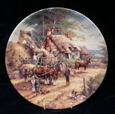 WEDGWOOD COUNTRY DAYS COLLECTORS PLATE - Making the Hayrick