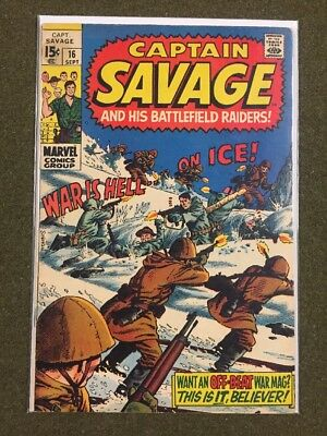 Captain  Savage # 16 - (Fine) - War Is Hell On Ice